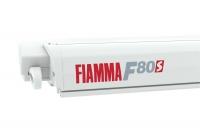 Маркиза Fiamma F80s, 3.7м, механическая накрышная, корпус белый, полотно серое, артикул 07830D01R