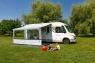 Маркиза Fiamma F45L, 5.5м, механическая настенная, корпус белый, полотно серое, артикул 06530B01R