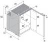 Холодильник Vitrifrigo C90i, встраиваемый компрессорный, 90литров, чёрна дверь, -18?С,питание 12/24V