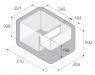 Холодильник Vitrifrigo VF55P, переносной компрессорный, 55 литров, до -22?С, питание 12/24/220V