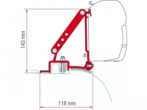 купить Крепёж для маркизы Fiamma серии F45s/F70, KIT DUCATO CITROEN JUMPER H22006, артикул 98655-755