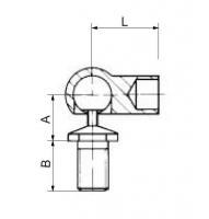 Концевая головка в форме шарового шарнира М10 (730060)