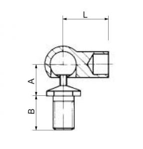 купить Концевая головка в форме шарового шарнира М10 (730060)