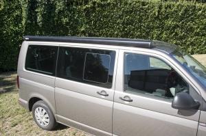 купить Маркиза Fiamma F40van 2.7м, накрышная механическая, корпус чёрный, полотно серое, артикул 07503H01R