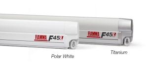 купить Маркиза Fiamma F45L, 5.5м, механическая настенная, корпус белый, полотно серое, артикул 06530B01R